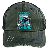 Today I'm Going Fishing Hat, I Love Fishing Trucker Cap (Trucker Cap - Dark Green)