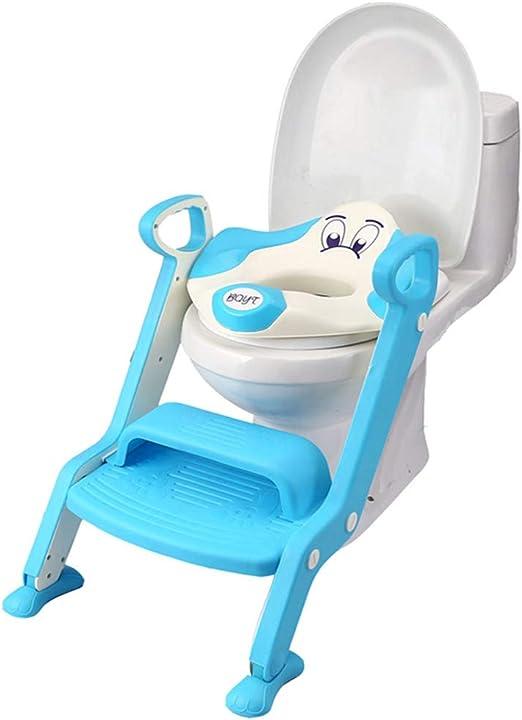 KJGFD Aseo Escalera Asiento Escalera del Tocador De NiñOs Asiento para WC con EscalóN Orinal Infantil Plegable FormacióN NiñOs De 1 A 7 AñOs(Azul),c: Amazon.es: Hogar