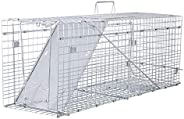 VIVOHOME Collapsible 1 Door Live Animal Cage Trap for Racoons Cats Squirrels Opossum Ground Hog 32 x 10 x 12 I