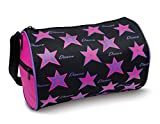 DansBagz by Danshuz Girl's Star Dance Duffel Bag, Black, Hot Pink, OS