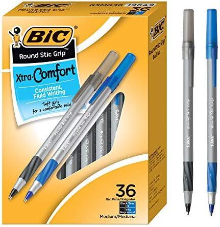 Medium Dozen Purple Ink Round Stic Grip Xtra Comfort Ballpoint Pen 1.2mm 2 Pack