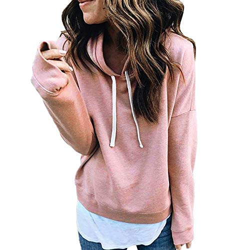 Newkelly Women Solid Sweatshirt Long Sleeve Blouse Pocket Pullover Tops Shirt