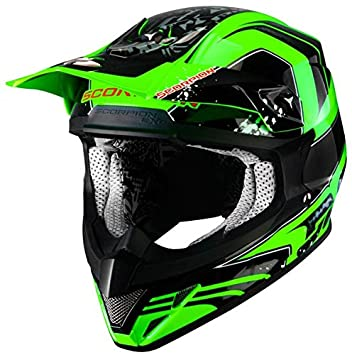 Scorpion Motocross Casco – VX de 20 – Air – Quartz – Color Verde Neón