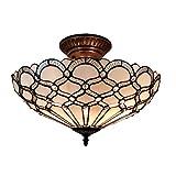 Amora Lighting Tiffany Style Jewel Semi Flush Mount