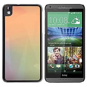 Unique Designed Cover Case For HTC Desire 816 With Oft Triangle Blur Polygon Art Pattern Wallpaper Phone Case