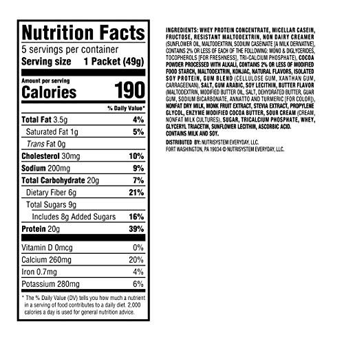 Nutrisystem® NutriCRUSH® Chocolate Shake Mix, 20 Count, Now with 50% More Protein by Nutrisystem (Image #6)