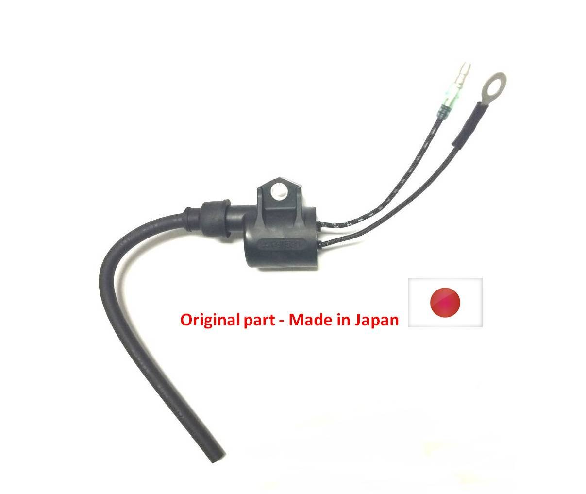 Boat Motor Original Made in Japan Ignition Coil Assy for Yamaha Outboard 6H5-85570-00 C 25HP - 50HP 2 stroke Engine by Yamadura