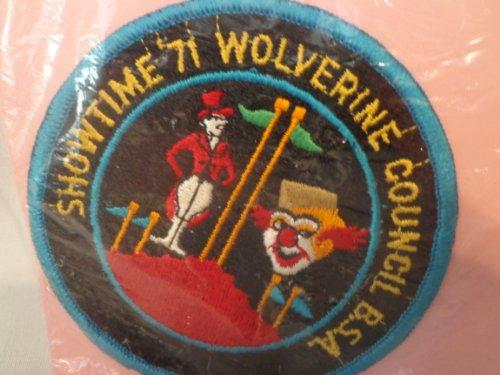 Vintage Boy Scout BSA 1971 Showtime BOY SCOUT Wolverine Council Patch 4