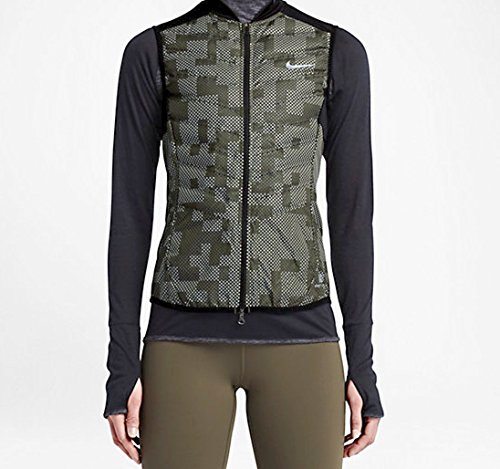 Nike Women's Aeroloft Reflective Running Flash Water-Repellent Vest - Small by NIKE