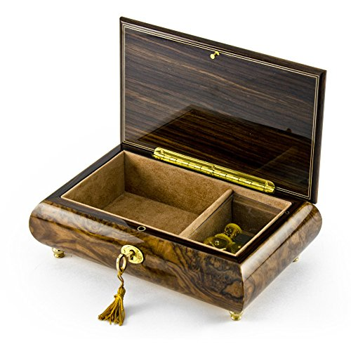 Handcrafted 30 Note Natural Wood Tone Music Theme Musical Jewelry Box - I Just Called to Say I Love You by MusicBoxAttic (Image #2)