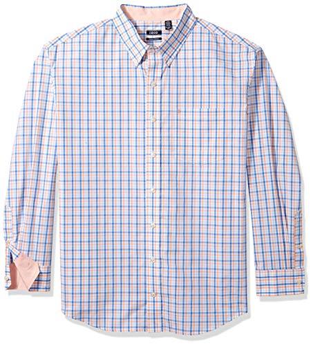 IZOD Men's Premium Performance Natural Stretch Tattersal Long Sleeve Shirt (Big & Tall and Tall Slim) ()