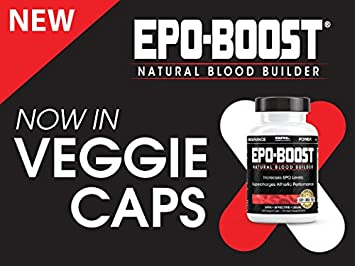 EPO-BOOST Natural Blood Builder Sports Supplement. RBC Booster with Echinacea Dandelion Root for increased VO2 Max, Energy, Endurance 120 Capsules