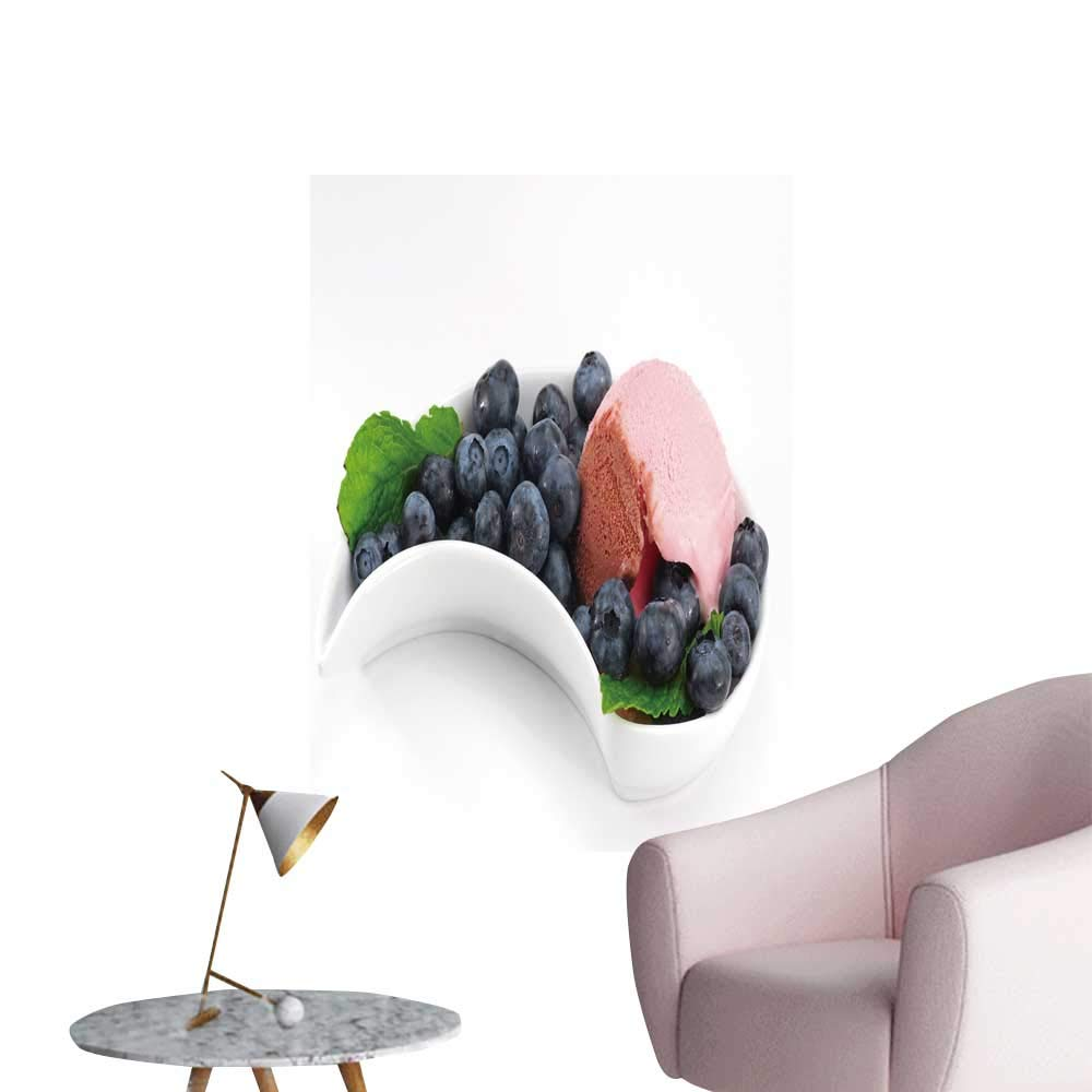 """SeptSonne Wall Decorative ice Cream in Bowl Fruits Pictures Wall Art Painting,28"""" W x 52"""" L"""