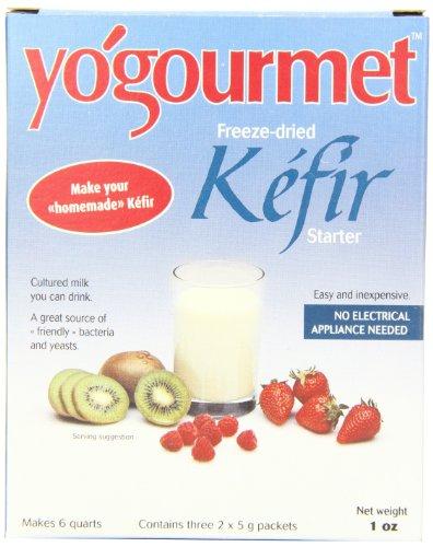 [Yogourmet Freeze Dried Kefir Starter, 1 Ounce box] (Goat Milk Digestion)