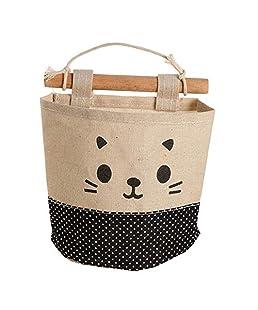 Lumanuby bolsa de algodón bolsa de almacenamiento solo bolsillo bolsa de almacenamiento de cuero de gamuza