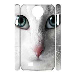 LZHCASE Diy Case Cat Cover For Samsung Galaxy S4 i9500 [Pattern-1] by icecream design