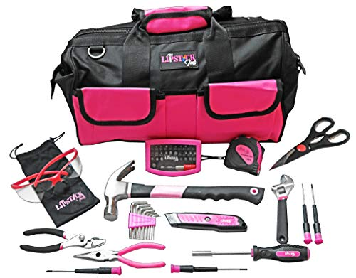 Ladies Pink Tool Set With Safety Glasses. 51 Piece is the Premier Tools Kit For Any Household Project. Women Claim Your Own Tool Box Kit for any homeowners improvement. Great ()