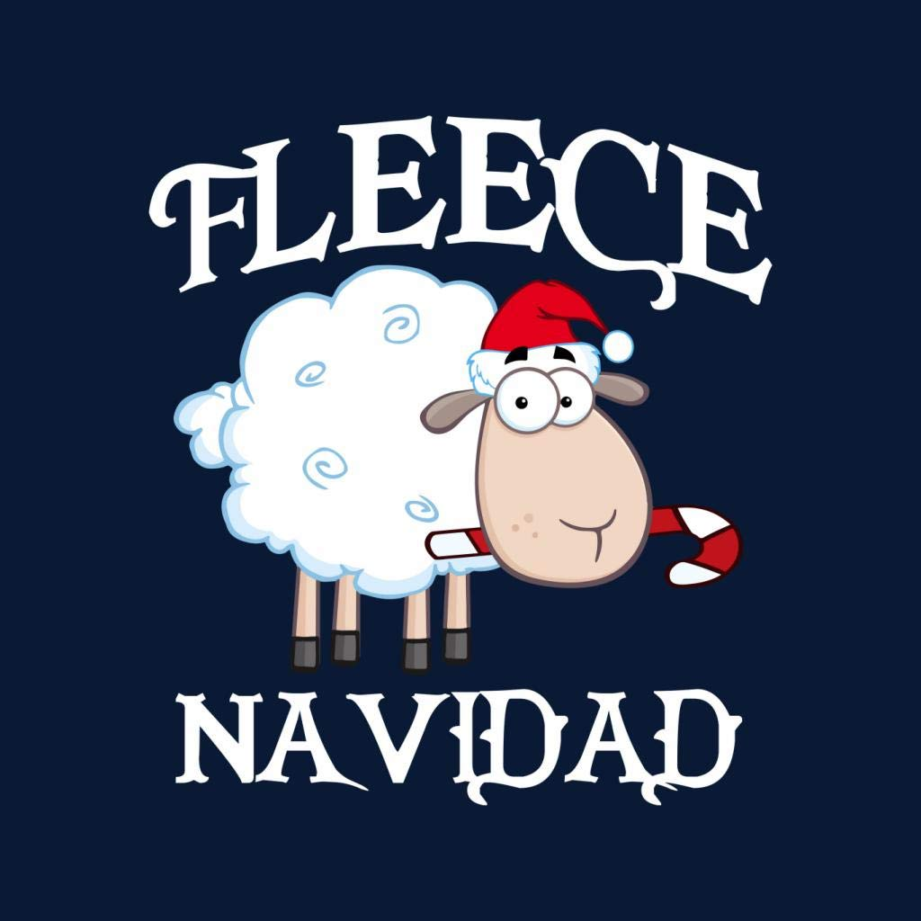 Coto7 Fleece Navidad Christmas Sheep Womens Vest