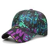 MAOCAP Autumn graffiti baseball cap/men's sun protection sun hat/ladies cap/paint old hat, purple