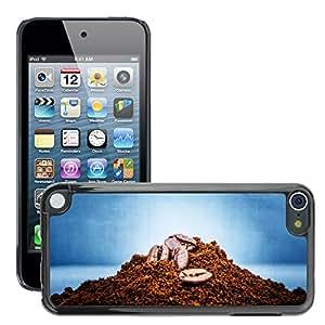 Etui Housse Coque de Protection Cover Rigide pour // M00152002 Grano de café Macro Food Shop // Apple ipod Touch 5 5G 5th