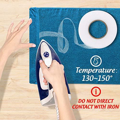 VGOODALL 4 Rollen Saumband zum Nähen, 256 M Bügelband Gardinen Klebeband für Textilien Vorhänge Aufbügeln 10mm / 20mm Weiß