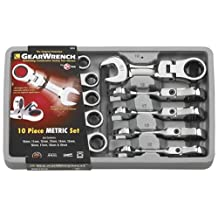 GearWrench 9550 10 Piece Metric Stubby Flex-Head Combination Ratcheting Wrench Set