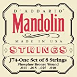 D\'Addario J74 Mandolin Strings, Phosphor Bronze, Medium, 11-40