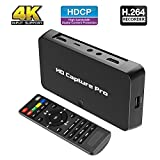 Game Capture Card HDMI Video Recorder Device w/Mic - HD Gaming Cloner Recording Dongle Box Pro for Nintendo Switc Xbox One PS4 360 Wii U Standalone Live Streaming to YouTube Record Adapter Player