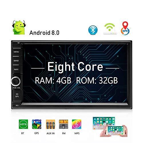 JAYE 7,0'Doble DIN Autoradio Coche Radio estéreo de Audio Android 8,0 Soporte Mirror Link/U Disco/AUX/cámara de Marcha...