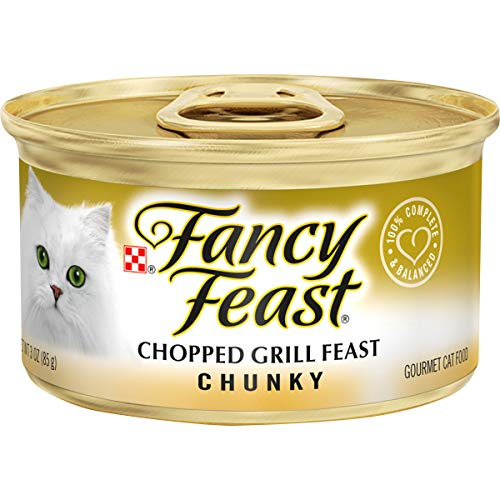 Purina Fancy Feast Pate Wet Cat Food - Chunky Chopped Grill Feast - (24) 3 oz. Cans