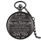 Engraved Pocket Watch, Pocket Watch for