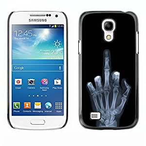 Be Good Phone Accessory // Dura Cáscara cubierta Protectora Caso Carcasa Funda de Protección para Samsung Galaxy S4 Mini i9190 MINI VERSION! // Funny X Ray Hand