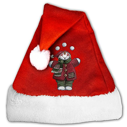 Lost Snowball Traditional Velvet Christmas Santa Hat For Christmas Party - Jim Maji