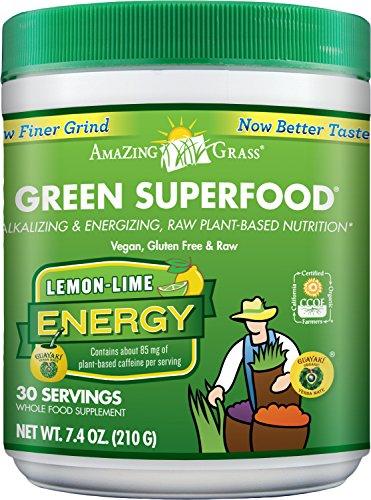 Incroyable herbe énergie superaliment vert citron Lime saveur, cuve 7,4 oz