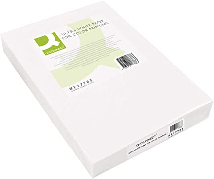 Q-Connect Papel Fotocopiadora Ultra White Din A4 160 Gramos Paquete De 250 Hojas