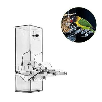 SUPERLOVE Comederos para pájaros Alimentador automático de Aves ...