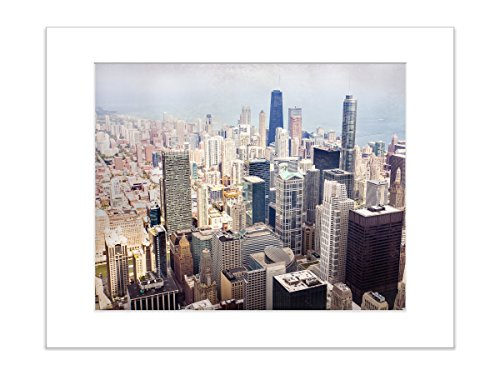 Chicago Skyscraper Photo Skyline Art Print 5x7 Matted (Fine Art Drive)