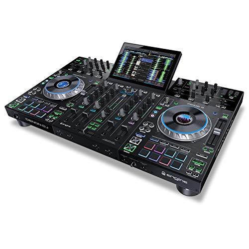Denon DJ PRIME 4 | 4 Deck Standalone Smart DJ Console / Serato DJ Controller with Built In 4 Channel Digital Mixer and 10-Inch Touchscreen