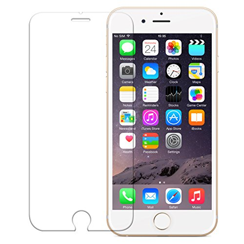 iPhone 6 Plus Screen Protector, iPhone 6s Plus Screen Protector, Wisdompro 0.33mm Clear Tempered Glass Screen Protector for iPhone 6 Plus 6s Plus -1 Pack