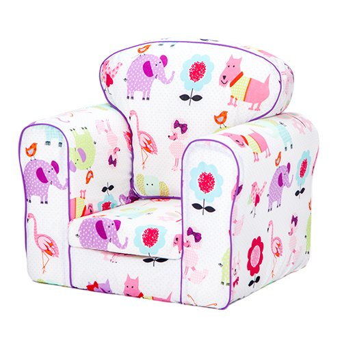 Kids Toddler Upholstered Armchair Children's Furniture - Cute Pets Boxify