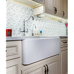 "33"" Fireclay sink, Single Bowl Farmhouse, Apron Kitchen Sink, White."