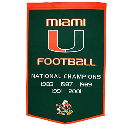 Winning Streak NCAA Miami Football Dynasty Banner ()