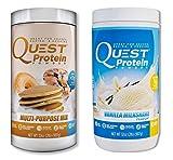 Quest Nutrition Quest Protein kPPjuQ Powder, Multi Purpose/Vanilla Milkshake 2lb Tub (1 of Each)