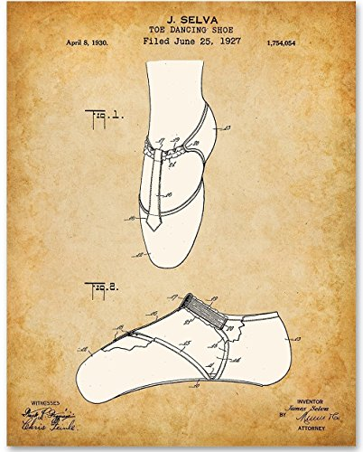 Ballet Shoes Art Print - 11x14 Unframed Patent Print - Great Gift for Ballerinas and Dancers