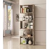 Coaster 800847-CO 5 Shelf Semi Backless Bookcase, Salvaged Cabin