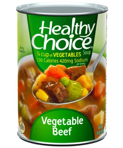 Healthy Choice Vegetable Beef Soup, 15-Ounce Cans (Pack of 12)