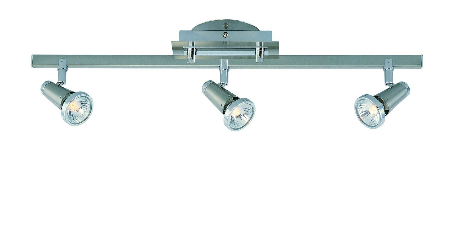Lite Source LS-16063PS Producer 3-Head Wall/Ceiling Spot Light, Polished Steel