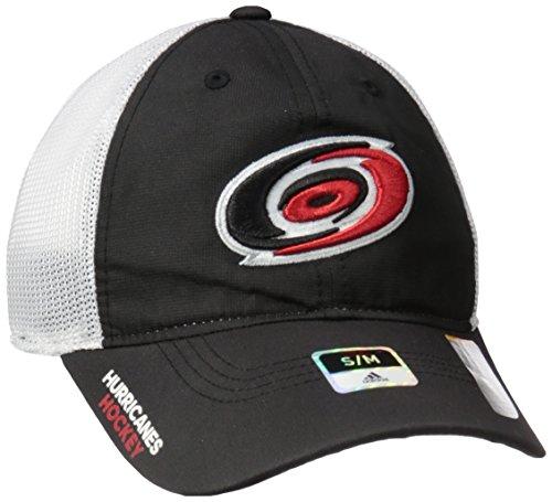 fan products of NHL Carolina Hurricanes Adult Men Pro Authentic Meshback Slouch Flex, Small/Medium, Black