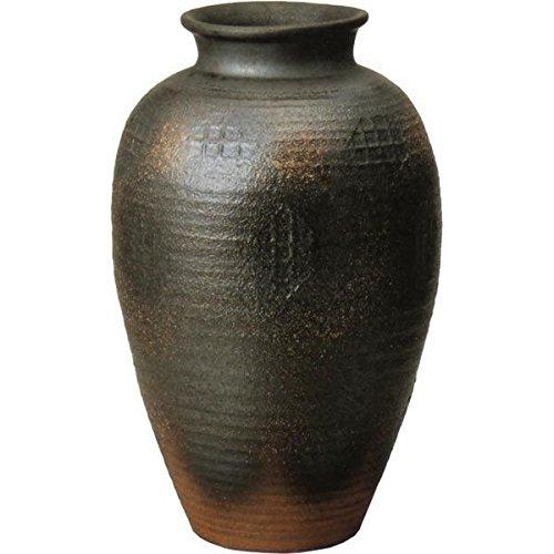 信楽焼 しがらき物語 焼締壺型花瓶15号(全高47cm×全幅29cm) B075MX4ZGB