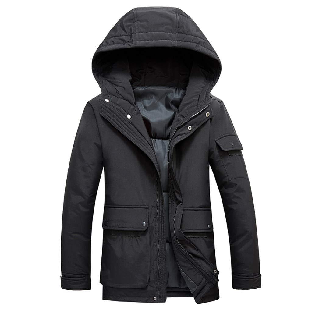 JJHAEVDY Men's Mountain Ski Snow Windproof Jacket Outwear Winter Thick Warm Windbreaker Coat with Fur Hooded by JJHAEVDY